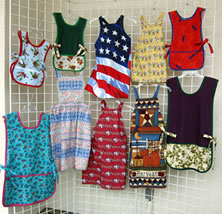 We sew aprons, scrunchies, and more!