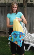 The beach towel is sewn in to the bag, so you never lose your stuff!